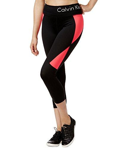 Calvin Klein Performance Womens Colorblock Quick Dry Athletic Leggings Black M