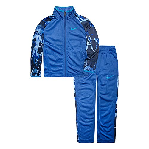 - NIKE Boy`sTherma Dri-Fit 2 Piece Tracksuit (Gamy Royal(86E200-U89)/Blue/Camo, 6)