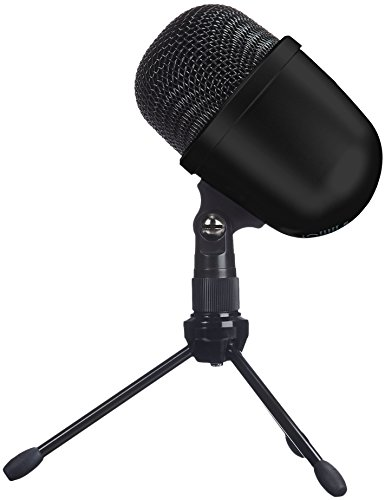 AmazonBasics Desktop Mini Condenser Microphone With Tripod - Black