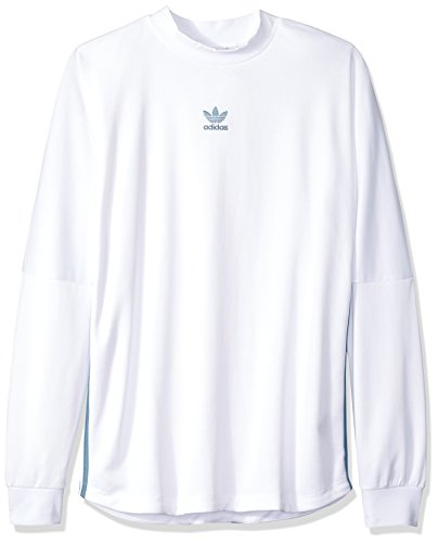 adidas Originals Men's Long Sleeve T-Shirt, White/raw Grey, 2XL