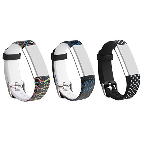 I-SMILE 3PCS Newest Replacement Wristband With Secure Clasps for Fitbit Alta Only