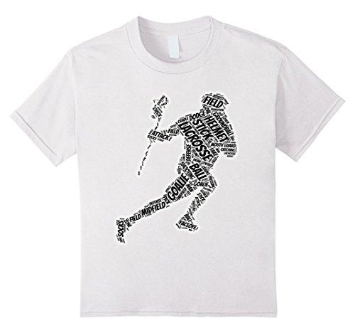 Kids  Goalie glove stick ball t-shirt 12 White