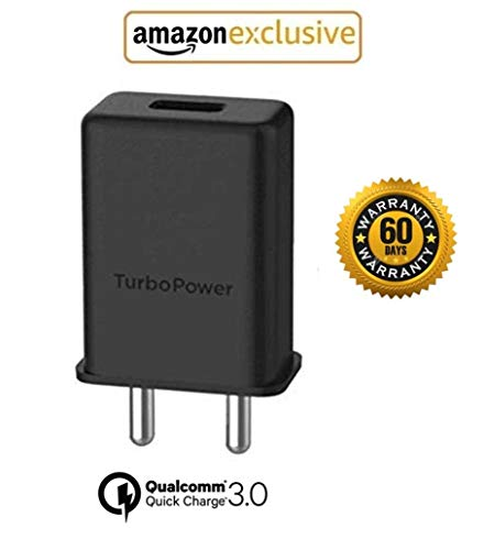 Mzon Shoqu Turbo Power 3.0Amp 25W Mobile Fast Charging Adaptor/Wall Charger  Black