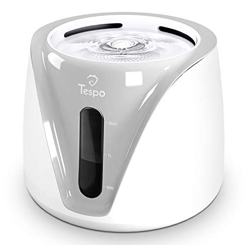 Tespo Cat Water Fountain Pet Drinking Water Dispenser 2L Super Quiet (Grey)
