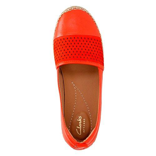Clarks Womens Reeney Helen Grenadine Leather Flat 7 B (M)
