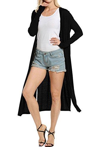 Long Black Cardigan Sweater - 6