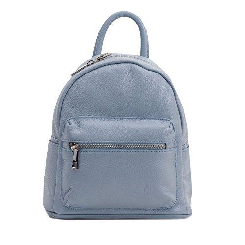 6Glam , Damen Rucksackhandtasche Blau azzurro chiaro unica
