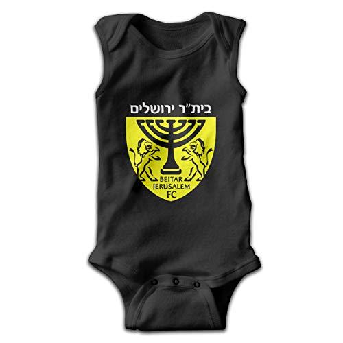 RichardMPage Beitar Jerusalem FC Football Music Band Sleeveless Baby Bodysuit Summer Baby Newborn Infant Crawling Clothes 40 Gift Black