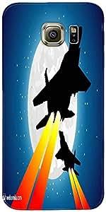 Snoogg Combatientes Luna Y Jet Diseñador Protectora Volver Funda Para Samsung...