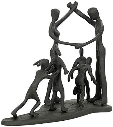 Aoneky Estatua Familiar de Metal - Figura Decorativa de Madre Padre Hijo Hija, Escultura Moderna Abstracta, Decoración del Hogar Casa Oficina, Figura ...