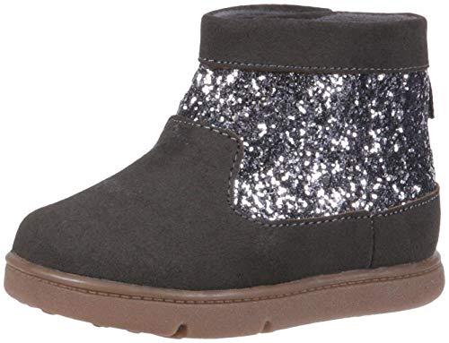Carter's Every Step Ayame-P Baby Girl's Walking Fashion Boot, Grey, 4.5 Medium US Toddler
