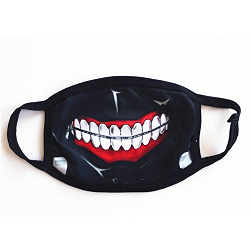 Flovex Cute Cartoon Outdoor Face Mouth Mask Unisex Cosplay Halloween Costume Party Daily Cool Mask (Mouth muffle without (Cute Halloween Masks)