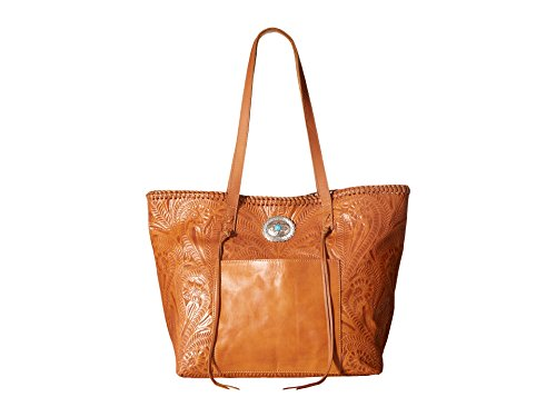 American West Women's Santa Barbara Large Shopper Tote Golden Tan Handbag