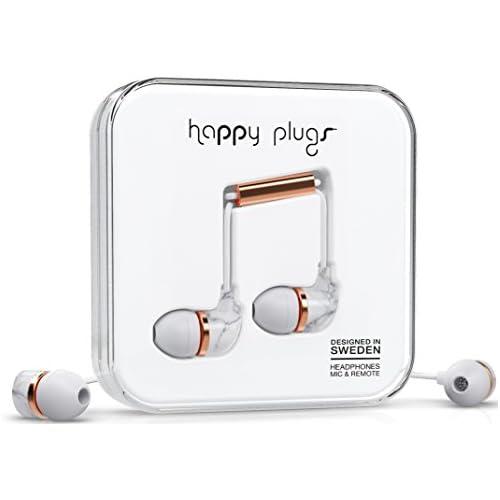 chollos oferta descuentos barato Happy Plugs In Ear Auriculares in Ear 3 5 mm micrófono Incluido 10 MW Color Blanco y Dorado