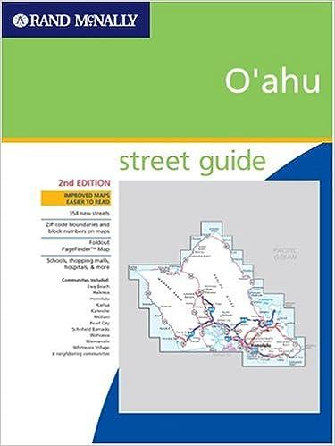 Hawaii Rand McNally Street Finder Oahu