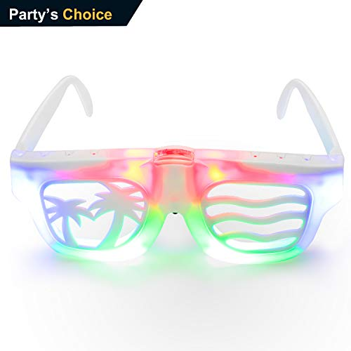 Light up Glasses Party Show Toy Glasses, Led Light Glasses for Kids and Adult, DIY Light Up Glasses for Halloween, Christmas Gift, Birthday Party, All Party Choices -