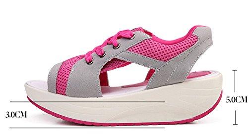 De Peep Sport Chaussures toe Femmes Rose Jds® Été Respirabilité Fortuning's qnwISA0aZx