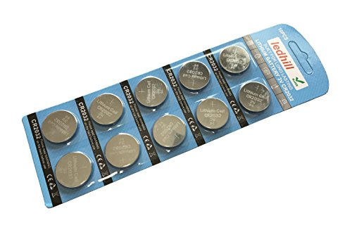 Ledhill 10-Piece CR2032 3V Lithium Batteries Button Cell for Bose Remote Control (pack of 10)