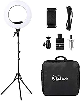 LED Selfie Ring Light 12 LED Ring Lights /& 2m Light Stands Low Energy Consumption High Light Efficiency /& Environment Protection Ring Light for Video /& Makeup /& Selfie Photography Compatible