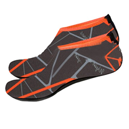 Voberry Hombres Mujer Calcetines De Agua Al Aire Libre Zapatos De Piel Descalza Para Ejecutar Dive Surf Swim Beach Yoga Gris