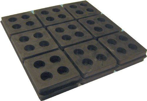 4 Pack of Anti Vibration Pads 6'' x 6'' x 3/4'' All Rubber Vibration isolation pads