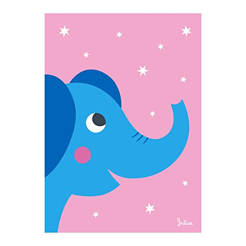 Poster Kinderzimmer Elefant nachtleuchtend