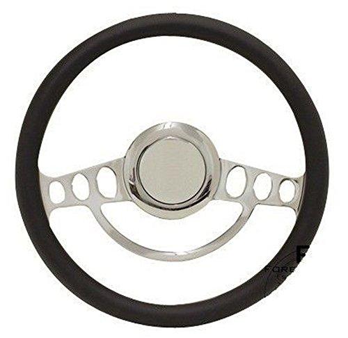 Chrome Hot Rod Steering Wheel Full Kit for GM Columns, Ididit, etc - Any (Hot Rod Steering)