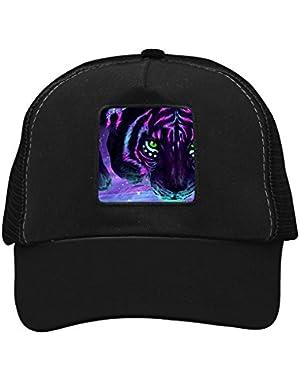 Unisex Green Eye Tiger Adjustable Classic Hiphop Hat Baseball Cap Snapback Dad Hat