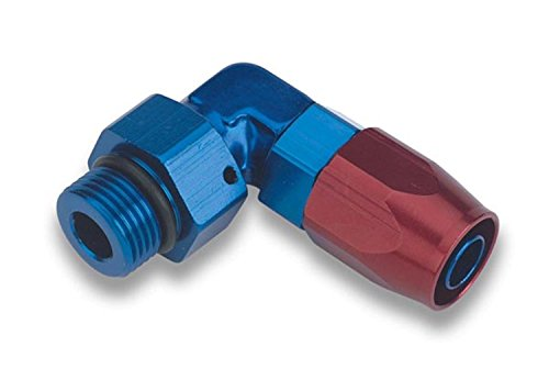 Earl's 849012ERL Swivel-Seal Blue And Red Anodized Aluminum 90-Degree -12AN to -12 Hose Fitting Earls Plumbing Swivel Seal