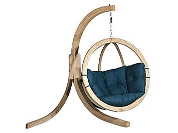 KoalaHammock Set de Madera: Silla Hamaca Swing Chair Single Verde + Soporte de Alicante Swing