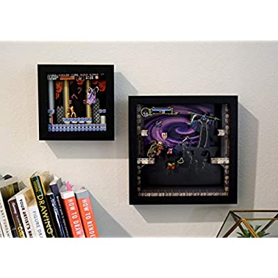 Pixel Frames Castlevania: Symphony of the Night 6x6 inches Shadow Box Art (Small): Toys & Games