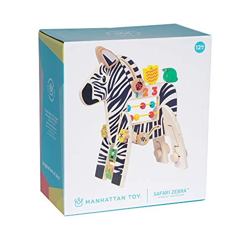 Manhattan Toy Safari Zebra Wooden Toddler Activity Toy