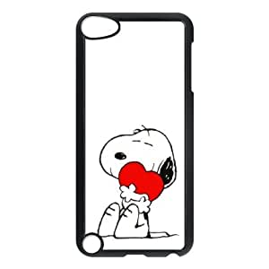 iPod Touch 5 Case Black Charlie Brown and Snoopy sqm