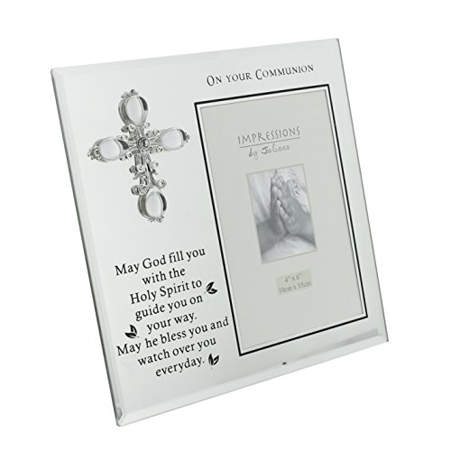 (Oaktree Gifts On Your Communion Glass Photo Frame 4 x 6 )
