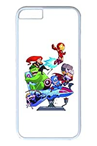 TOPPEST 6 Case - Highly Protective White Case Bumper for iPhone 6 Cartoon Avengers Shock-Absorption White Hard Back Cover Case for iPhone 6 4.7 Inches