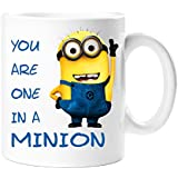 Despicable Me One in a Minion 11 OZ Coffee Tea cup/ Mug- Ideal Gift for Birthday, Christmas, Any Occassion