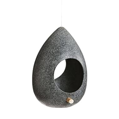 Contemporary Stone Finish Hanging Bird Feeder