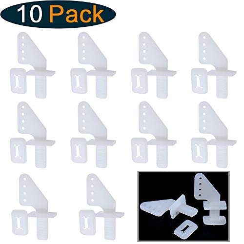 HobbyPark Nylon Micro Control Horns 20x11mm 4 Holes for RC Airplane Remote Control Foam Electric Park Flyers Parts (Set of 10)