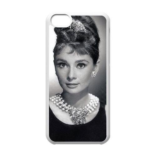 Audrey Hepburn coque iPhone 5C Housse Blanc téléphone portable couverture de cas coque EBDOBCKCO13486