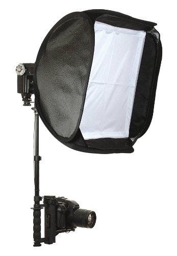 Alzo Flip Flash Bracket Softbox Kit (Black)- for All Dslrs