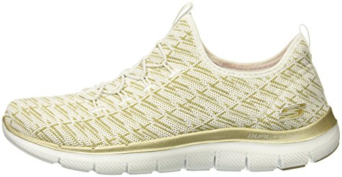 Skechers Flex Appeal 2.0 Insights White/Gold