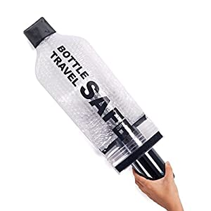 4 Reusable Travel Safe Wine Bottle Bag Holder - TSA Compliant - Leakproof To Protect Bottles, Luggage and Clothes - Protector La Botella De Vino Sleeve Caddy