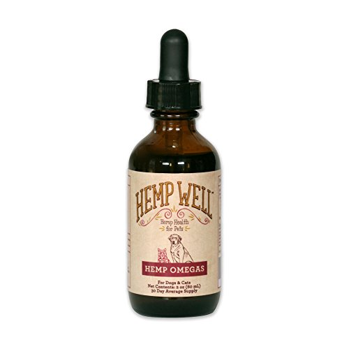 Hemp Omegas - Hemp Oil for Dogs and Cats | Supports Pet Hip and Joint Health | Best Source of Omega 3 and Omega 6 Fatty Acids | Maintains Skin and Coat | Aids in Immune Support and Heart Health [2 Oz]