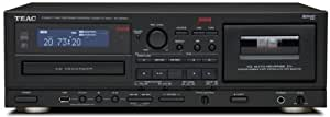 TEAC AD-RW900 - Grabador de CD y cassette para equipo de audio (3.5 mm, USB), negro