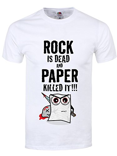 Rock Is Dead & Paper Killed It Männer T-Shirt weiß