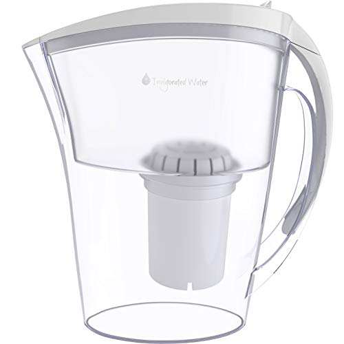 pH Refresh Alkaline Water Pitcher with Long-Life Filter - Alkaline Water Filter Purifier - Water Filtration System - High pH Alkaline Water Dispenser, 84oz, 2.5L ()