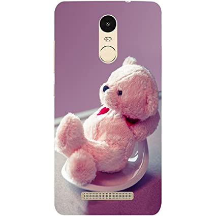 new styles a37a2 a9dce Casotec Cute Teddy Bear Design Hard Back Case Cover for Xiaomi Redmi Note 3