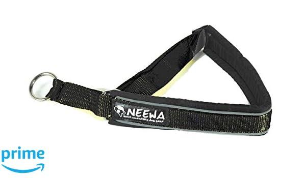 Neewa 8033087538793 - Collar Semi strozzo Negro Medium: Amazon.es ...