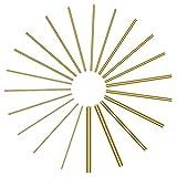 Sutemribor Brass Round Rods Bar Assorted Diameter
