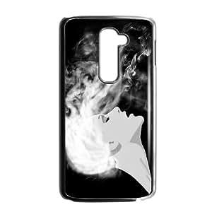 LG G2 Cell Phone Case Black SMOKE OJ652946